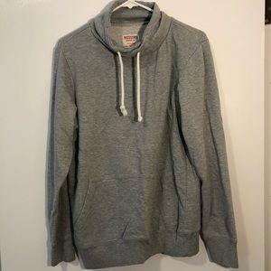 Mossimo Supply Co gray cowl neck sweatshirt